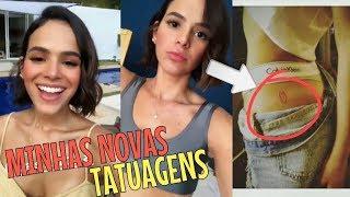 Bruna Marquezine faz MAIS três TATUAGENS novas   VEJA!!!