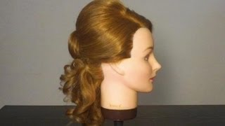 Свадебная и вечерняя прическа.  Wedding Prom hairstyle for long hair