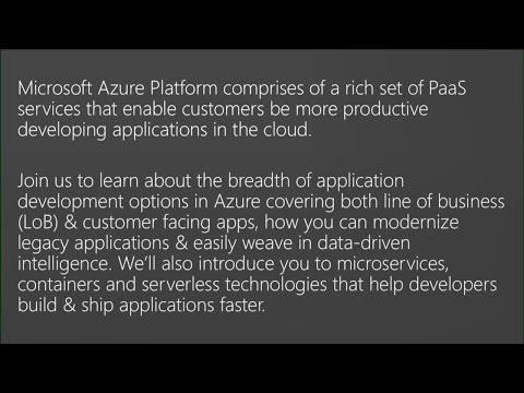 Future of Software Development in the Cloud with Azure Platform - BRK2235