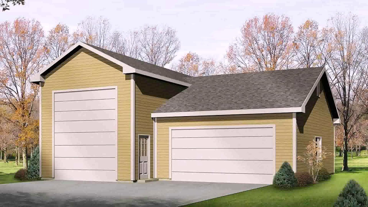 House plans with rv garage attached youtube for Apartment homes with attached garage