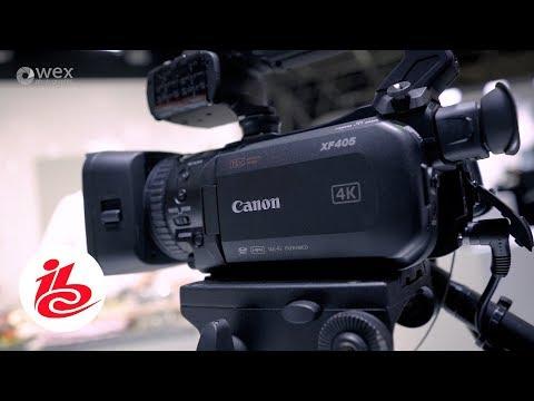 IBC Show 2017 - Canon XF405 1-Inch CMOS 4K camcorder