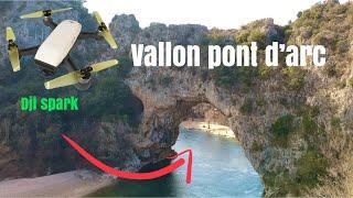 Vallon Pont d'Arc vu du ciel - Ardèche
