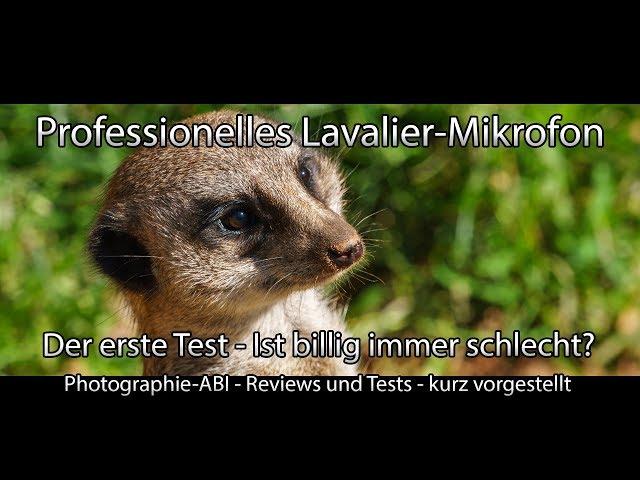 Professionelles Lavalier-Mikrofon - Der erste Test - Was leistet ein Mikrofon für 22,00 €