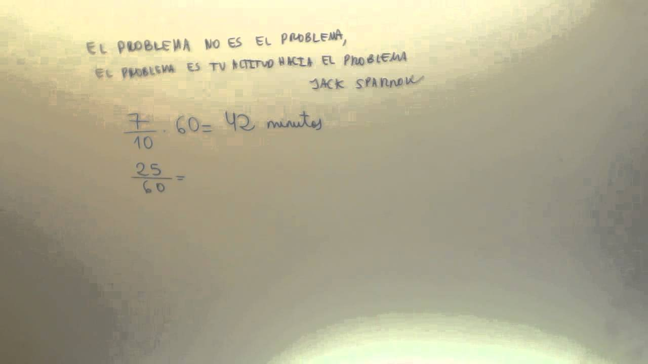 Problema de fracciones Fracciones de hora Matematicas 1º ESO ...