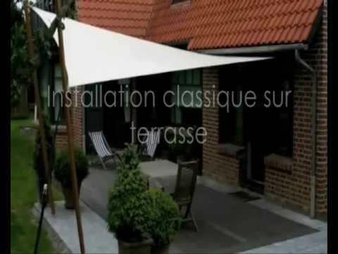 Montage Voile D'Ombrage - Www.Espace-Ombrage.Com - Youtube