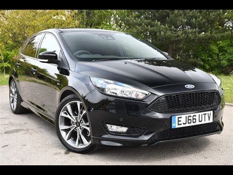 used ford focus 1 5 ecoboost st line 5dr shadow black 2016 youtube. Black Bedroom Furniture Sets. Home Design Ideas