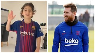 7 летний мальчик ПОРАЗИЛ МЕССИ своими скиллами Арат Хоссеини в Барселоне Инсайд Новости футбола