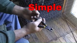Easy method to cut chicken wire