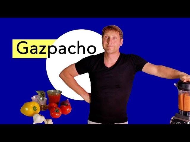 Hitze Food - richtig ernähren im Hochsommer und bei #Hitzewelle. Ein Gazpacho Rezept  für 38°C- Tage