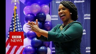 Ayanna Pressley: Democrat reacts to shock primary win - BBC News thumbnail