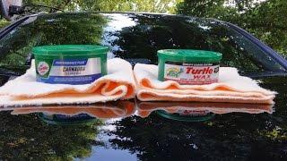 Turtle Wax Carnauba Wax VsTurtle Wax super Hard Shell Wax(water test)