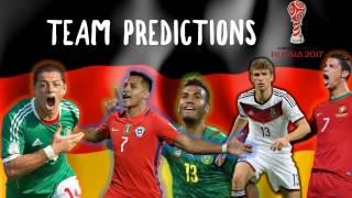 2017 Confederations Cup Germany Squad Predictions
