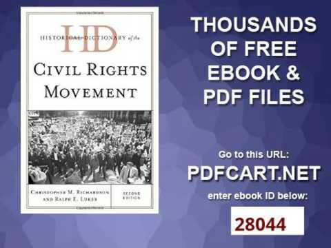 Historical Dictionary of the Civil Rights Movement Historical Dictionaries of Religions, Philosophie