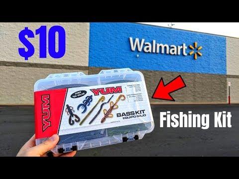 $10 Wal-Mart Fishing Kit CHALLENGE (Surprising!)