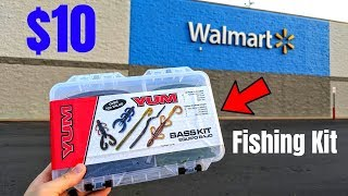 $10 Wal-Mart Fishing Kit CHALLENGE (Surprising!)