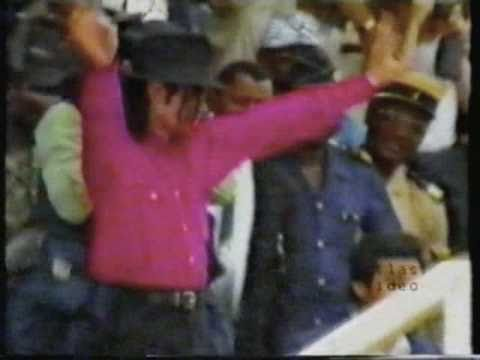Michael Jackson visits Africa 1992
