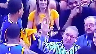 Stephen Curry Denies Grizzlies Fan High Five
