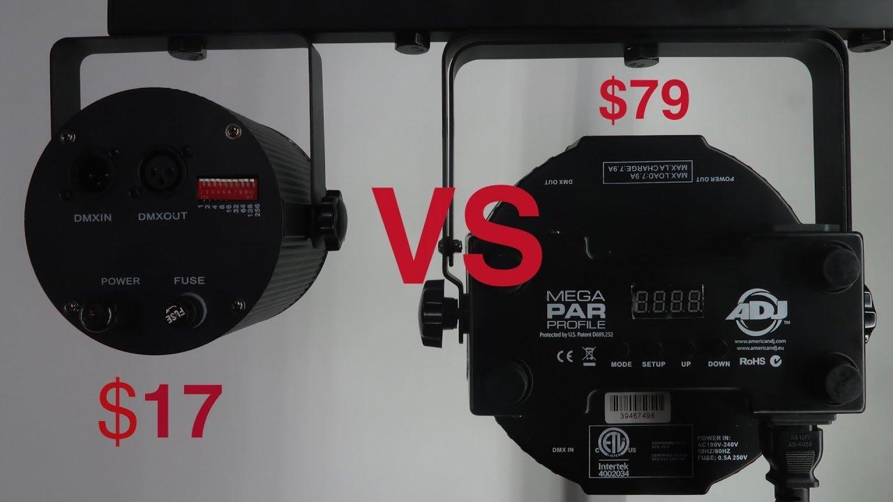 Affordable Dmx Lighting 86led Stage Light Vs Adj Mega Par Profile Unboxing And Review