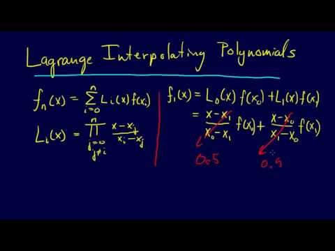 5.2.4-Curve Fitting: Lagrange Interpolating Polynomials--Linear Interpolation