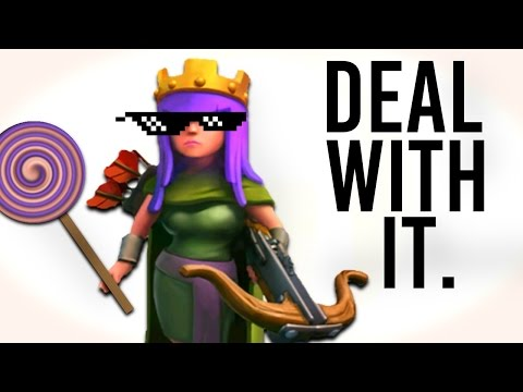 Clash of Clans | Archer Queen... DEAL WITH IT! (CRAZY AI Glitch!)