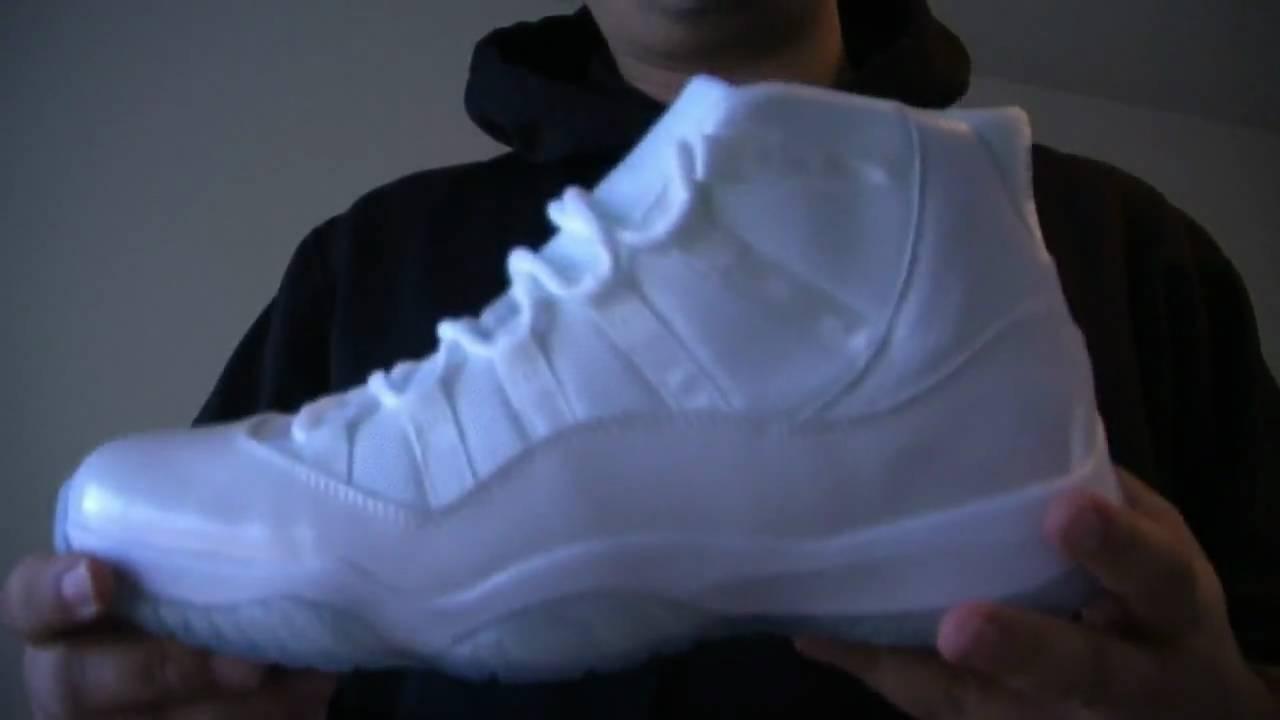 45149e20c4e7 Review  Air Jordan 11 - 25th Silver Anniversary (White   Metallic Silver) -  YouTube