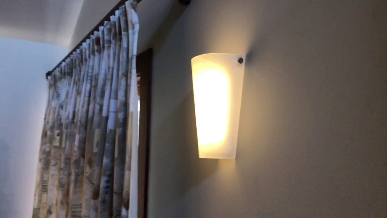 It S Exciting Lighting Frosted Marble Gl Conical Wall Sconce Light Installation And Review