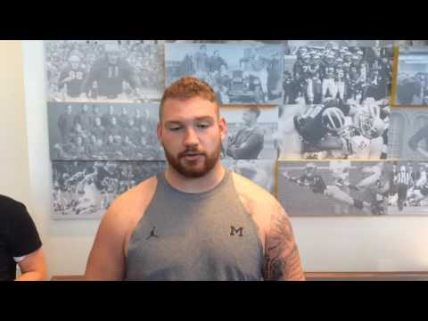 """Kyle Kalis on Michigan's improving offenive line and """"jacking up"""" UCF"""