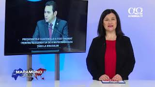 Presedintele Guatemalei a fost premiat pentru alegerea sa de a muta ambasada tarii la Ierusalim