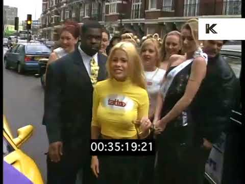 1990s Melinda Messenger Poses With Car, Lads Mag Girl, London