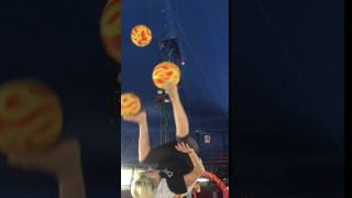 foot juggler olga gevorkyan three balls