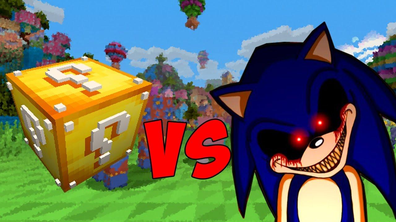 Lucky Block Vs Sonic Exe Minecraft Lucky Block Challenge Youtube