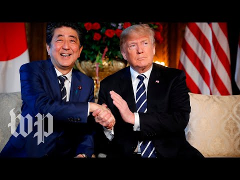 Trump has lunch with Japanese Prime Minister Abe