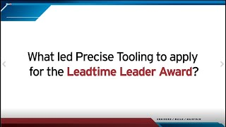 Leadtime Leader: Q&A with 2020 Winner Precise Tooling