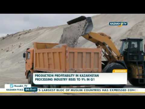 Production profitability in Kazakhstan processing industry rises to 9% in Q1 - Kazakh TV