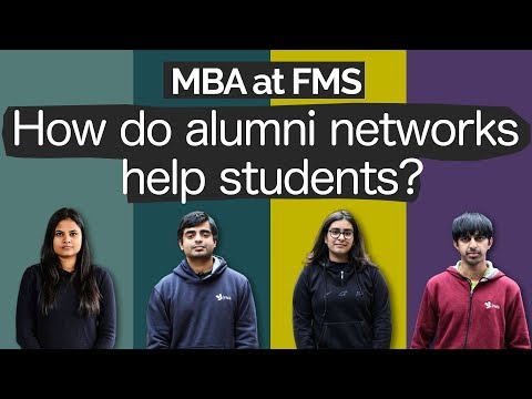 MBA at FMS | How do alumni networks help MBA students?
