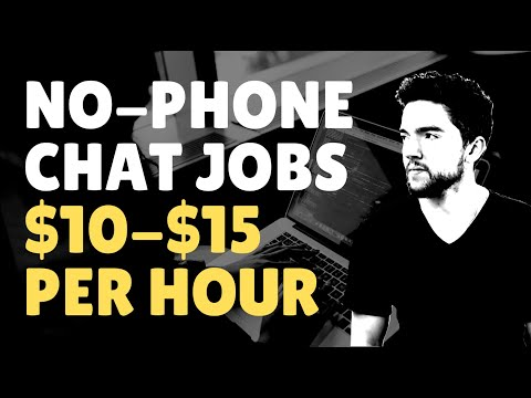Work-From-Home Chat Agent Jobs | $10-$15 Per Hour 2020 (No-Phone)