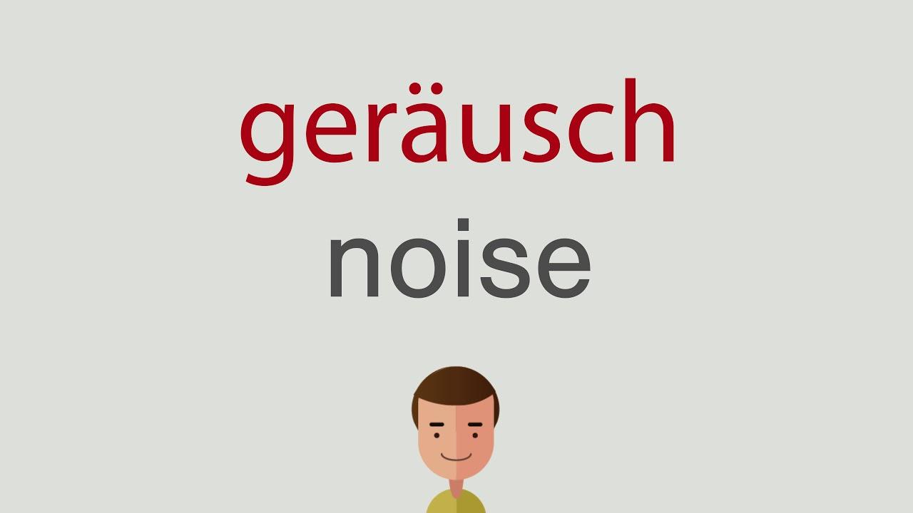 Geräusch Englisch