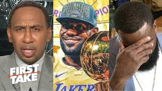 "First Take | Stephen A ""furious"" Kendrick Perkins insists LeBron is the G.O.A.T but Stephen not"