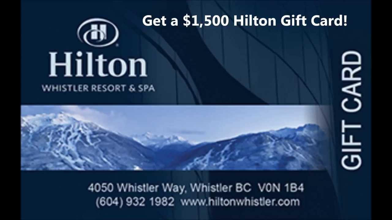 Hotel Gift Cards | Get $1,500 Hilton Gift Card US