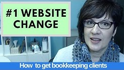 The #1 website change to attract bookkeeping clients