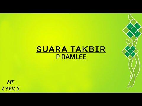P Ramlee - Suara Takbir (Lirik)