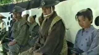 A Famous duel in samurai history. Miyamoto Musashi vs Sasaki Kojiro. with poor subtitles