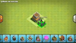 Clash of Clans | Diseño de aldea ayuntamiento nivel 4 | Defensiva