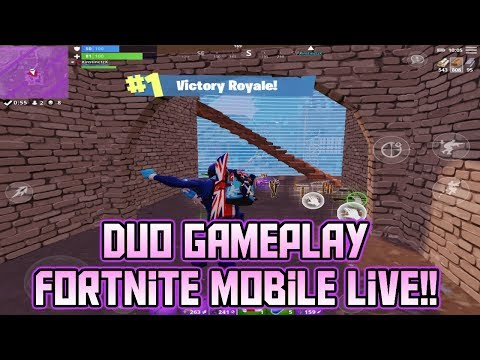 New Update Clinger Grenades - Duo's Live! 55+ Wins on Fortnite Mobile! - iOS Gameplay