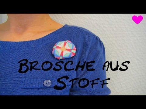 Brosche aus Stoff DIY / Accesoires für die Kleidung selber gestalten Tutorial | deutsch