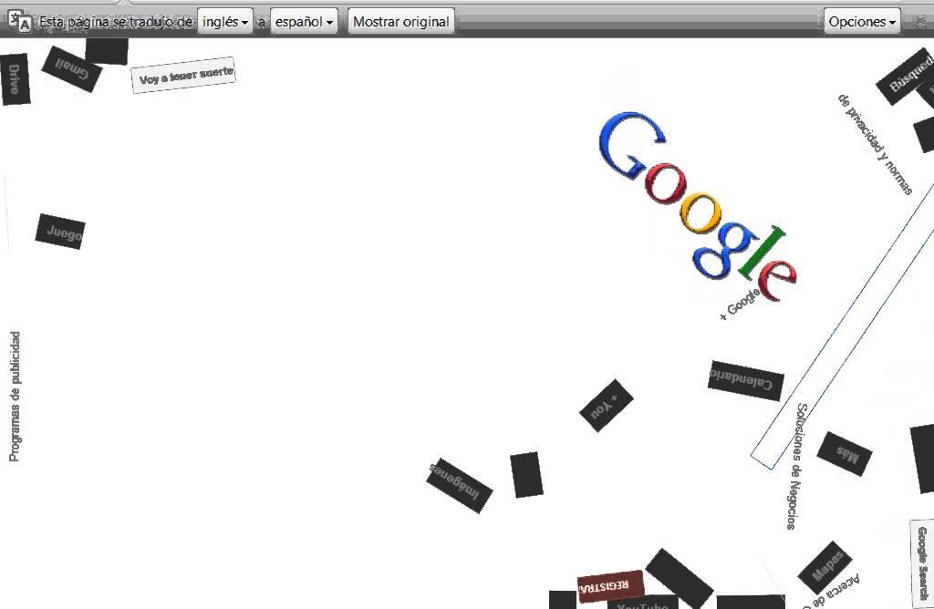 Google Gravity Estas Aburrido Entra 2014 Youtube