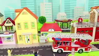 Traktör, Vinç, Ekskavatör ve Yeni - Itfaiyeci oyuncak - polis arabası Çocu - Excavator Toys
