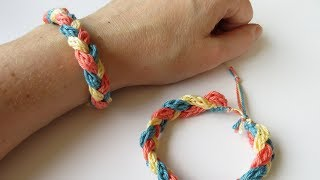 Today I show you how to crochet an i-cord bracelet! and how to turn it into a plaited friendship bracelet. Buy the yarn shown here: ...