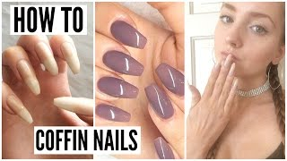 How To: Natural Coffin Nails 💅🏼⎮Isabella