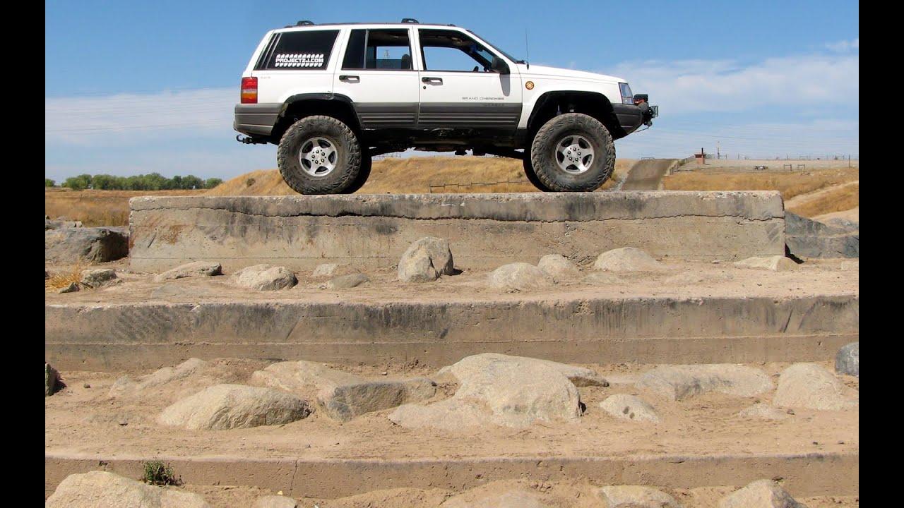 1996 Jeep Grand Cherokee Laredo >> Jeep Grand Cherokee 4x4 Project ZJ Part 33 Climbing Obstacles Prairie City SVRA - YouTube